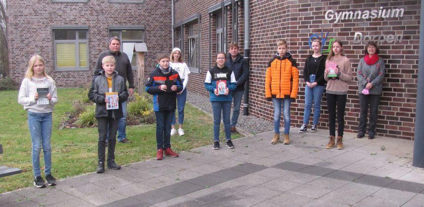 Siegerehrung Gymnasium Dörpen Schulentscheid Vorlesewettbewerb 3